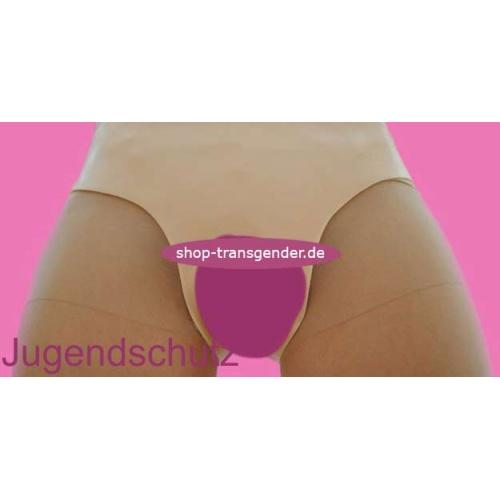 V-Slip mit eingearbeiteten Pobacken, Vagina