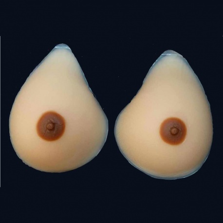 Realistic silicone breasts classic-curved, silicone breasts or adhesion