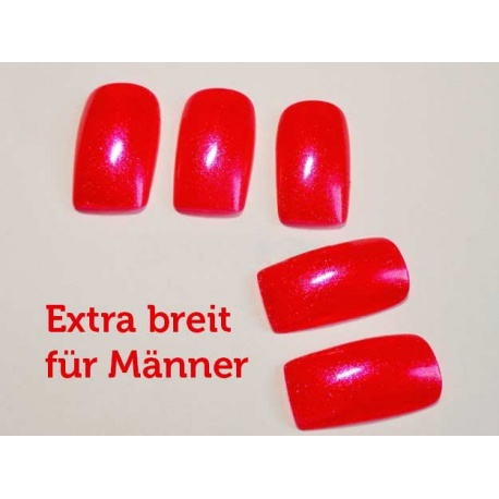 Artificial fingernails in red, extra wide accessories & make-up, price 16,90€