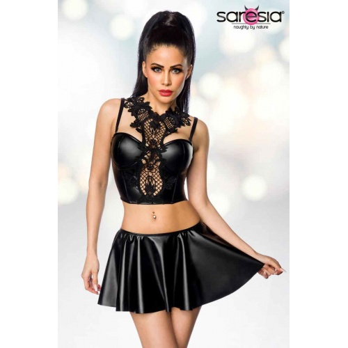 Wetlook Set | Skirt & Top, Clothing