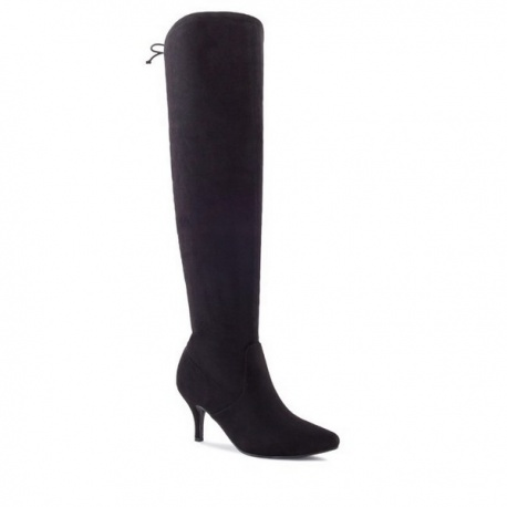 Modern boots in black velour shoes, price 99,90€