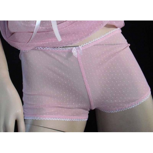 Hotpants with Gaff in Pink, Bras - Underwear - Briefs