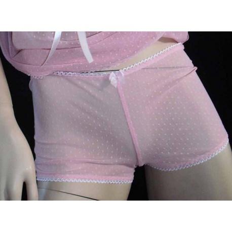 Hotpants with Gaff in Pink, Bras - Underwear - Briefs