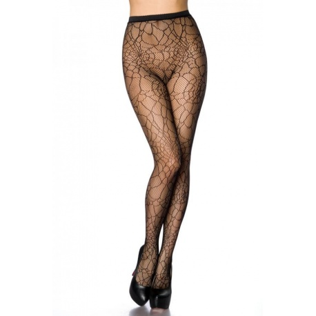 Web tights with spider web pattern, Clothing