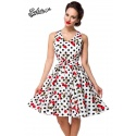 Retro dress with flared plate skirt