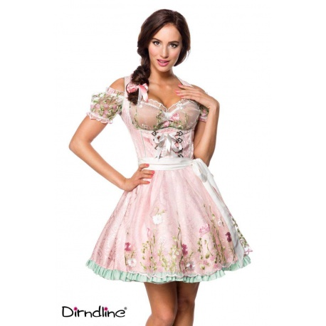 Brocade dirndl with lace blouse, Clothing