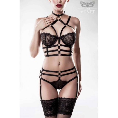 Harness Set 2-teiliges von Grey Velvet, Dessous & Corsagen (Korsett)