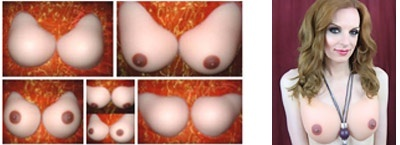 Realistic Breasts Classic Curved