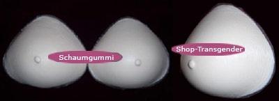 Brüste aus Schaumgummi