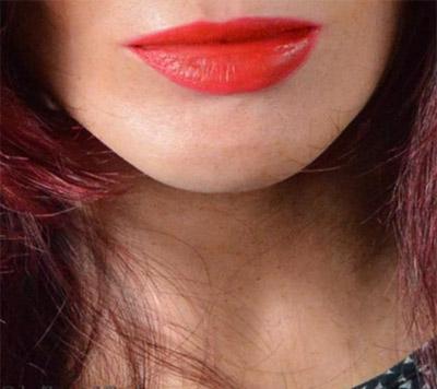 Frauen-Maske mit Lippen