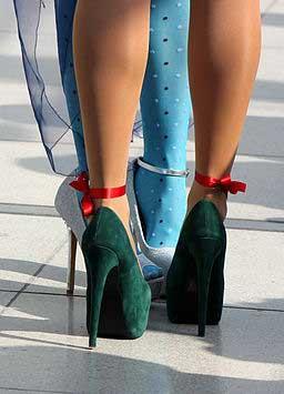 High Heel in grün